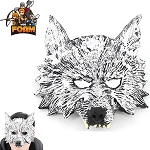 WarFoam Wolf Head Mask for Costume Cosplay Halloween Masquerade