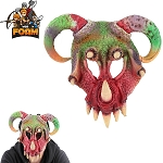 WarFoam Fantasy Mythical Wild Creature Horn Mask For Cosplay Halloween Masquerade