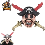 WarFoam Pirate Skull Hat Blood Stained Swords Mask For Cosplay Halloween Masquerade