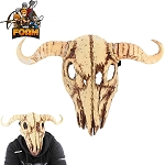 WarFoam Cow Skull Bull Steer Head Mask For Cosplay Halloween Masquerade