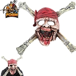 WarFoam Pirate Skull CrossBones Mask For Cosplay Halloween Masquerade Dead Men