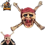 WarFoam Dead Men Pirate Skull CrossBones Mask For Cosplay Halloween Masquerade