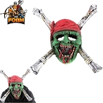 WarFoam Zombie Pirate Skull CrossBones Mask For Cosplay Halloween Masquerade