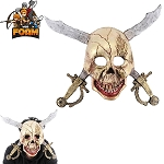 WarFoam Scary Pirate Skull Cross Swords Mask For Cosplay Halloween Masquerade