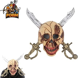 WarFoam Pirate Skull Cross Swords Mask For Cosplay Halloween Masquerade